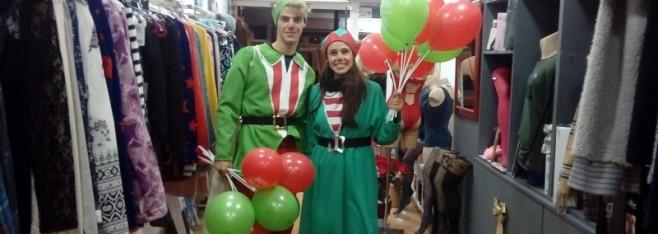 Animación en las calles de Sant Joan para Navidad